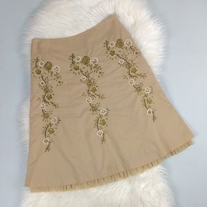 Talbots Embroidered Sequin Tulle Trumpet Skirt 6